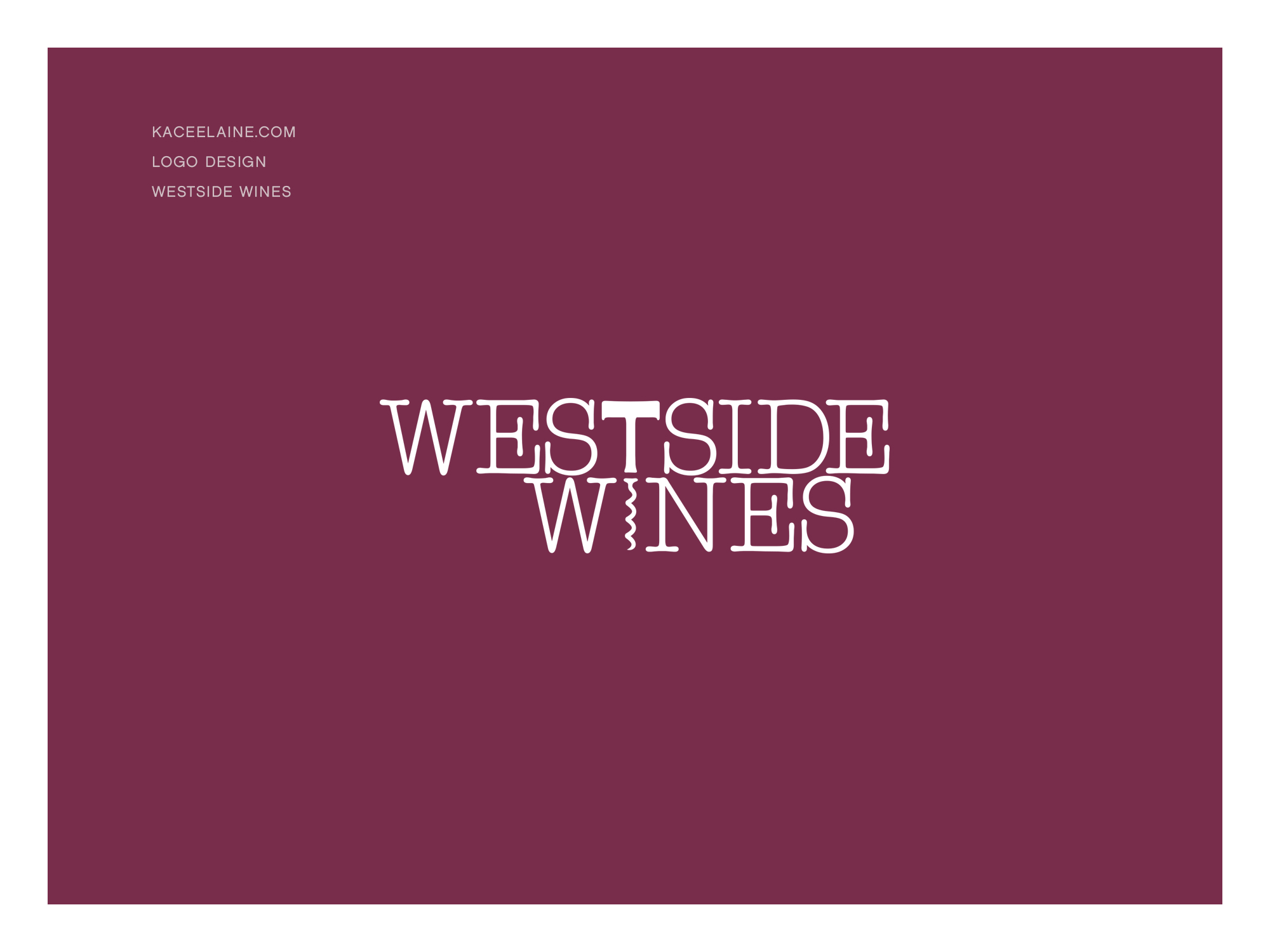 Logo Design for Westside Wines