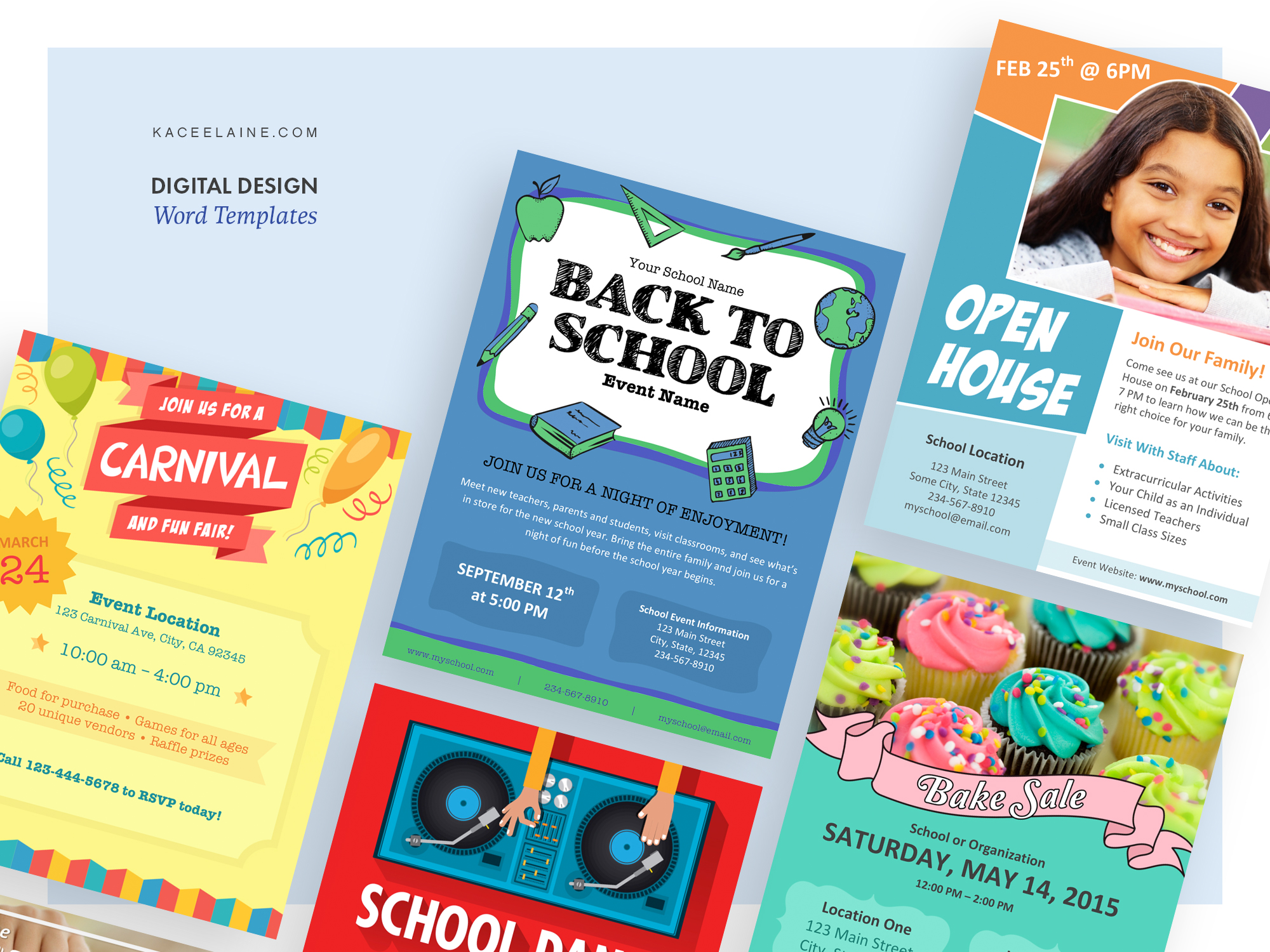 School Flyer Word Templates