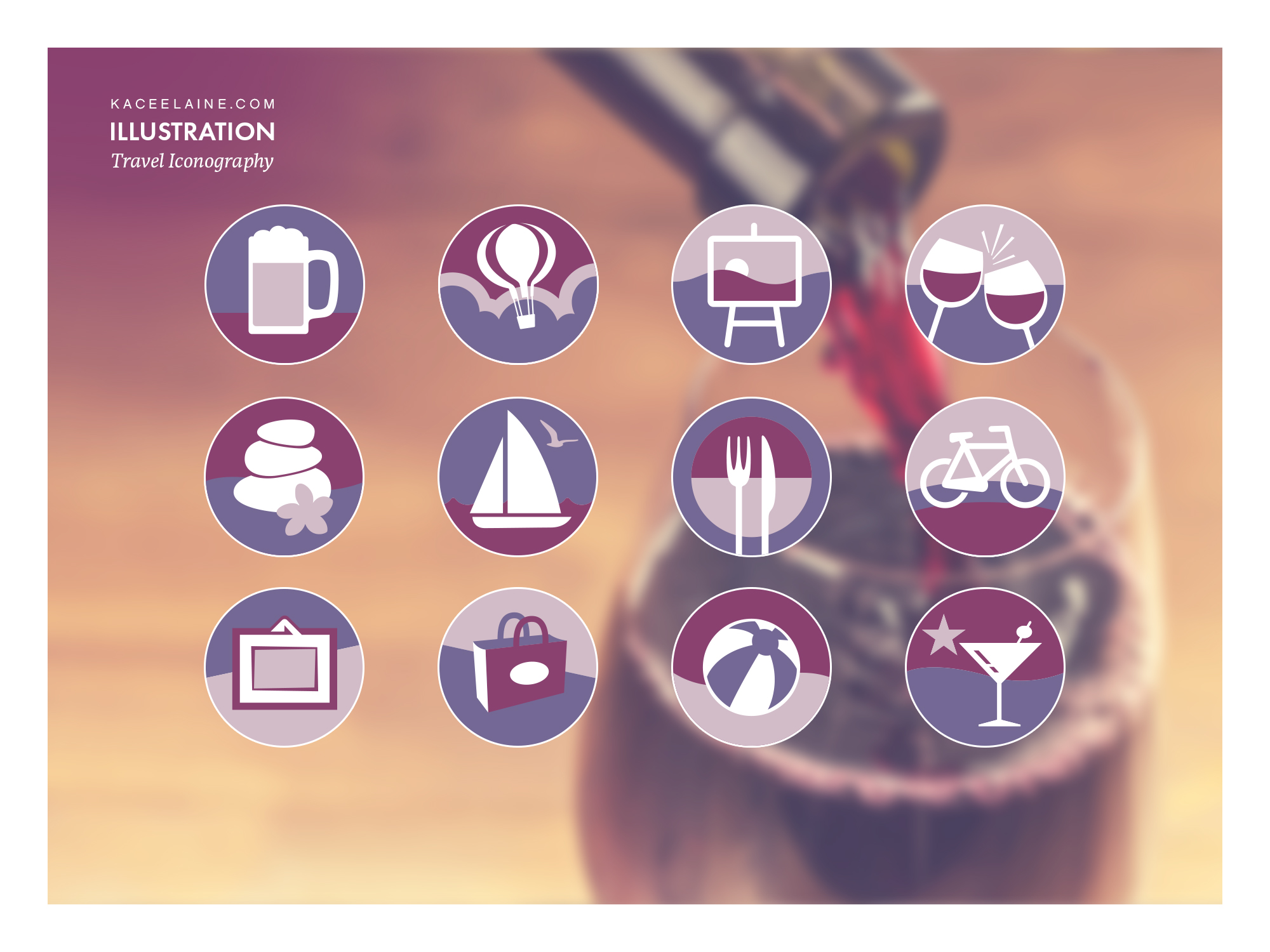 Travel Iconography Illustration