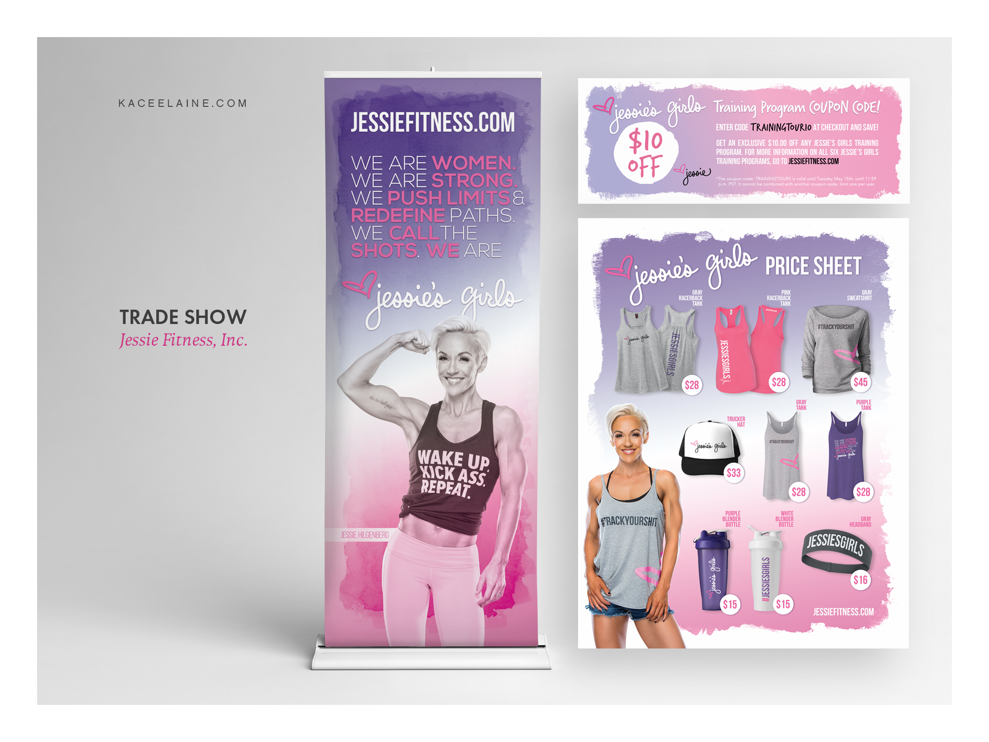 Trade Show Design for Jessie Fitness