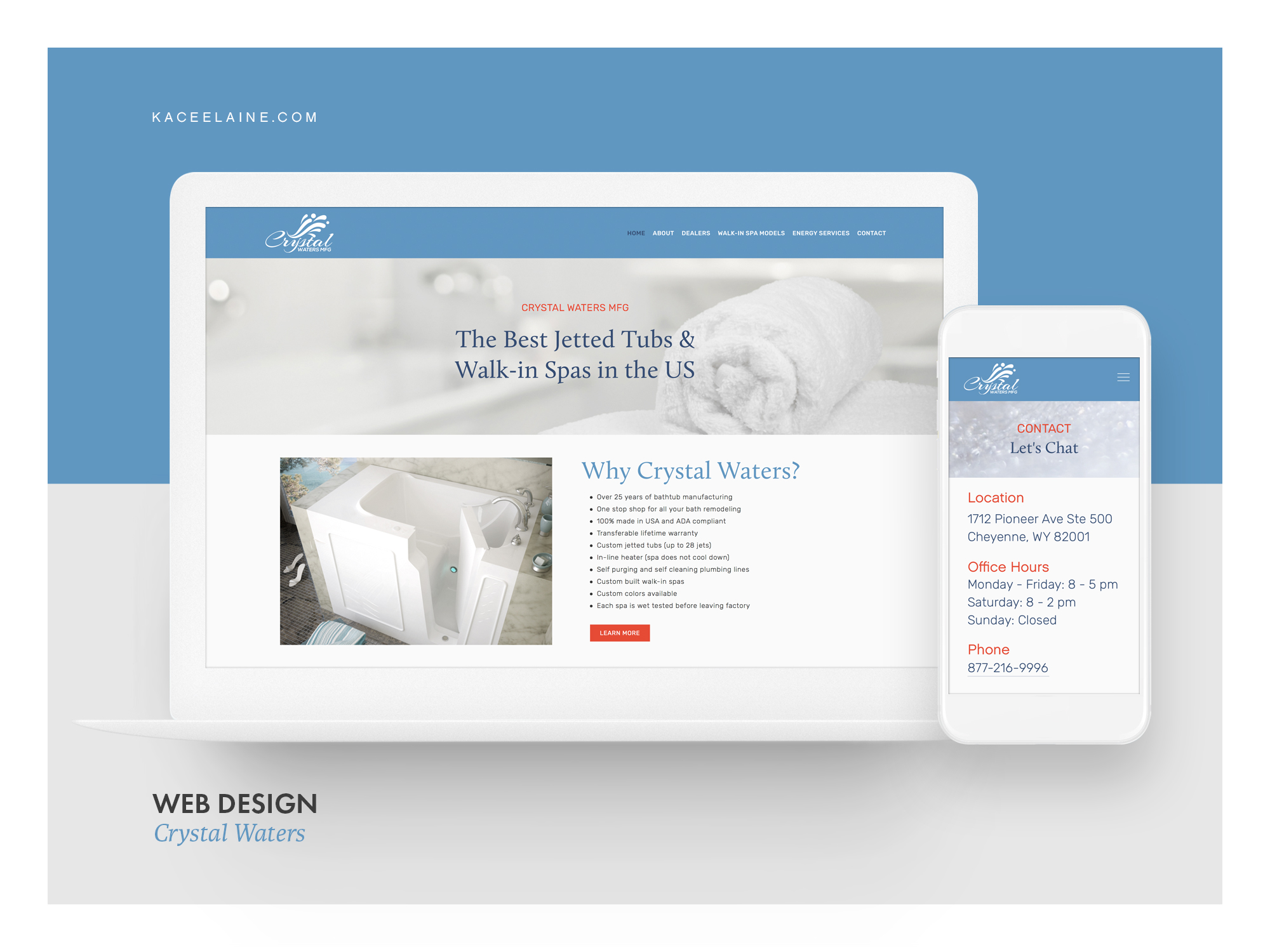 Squarespace Web Design for Crystal Waters