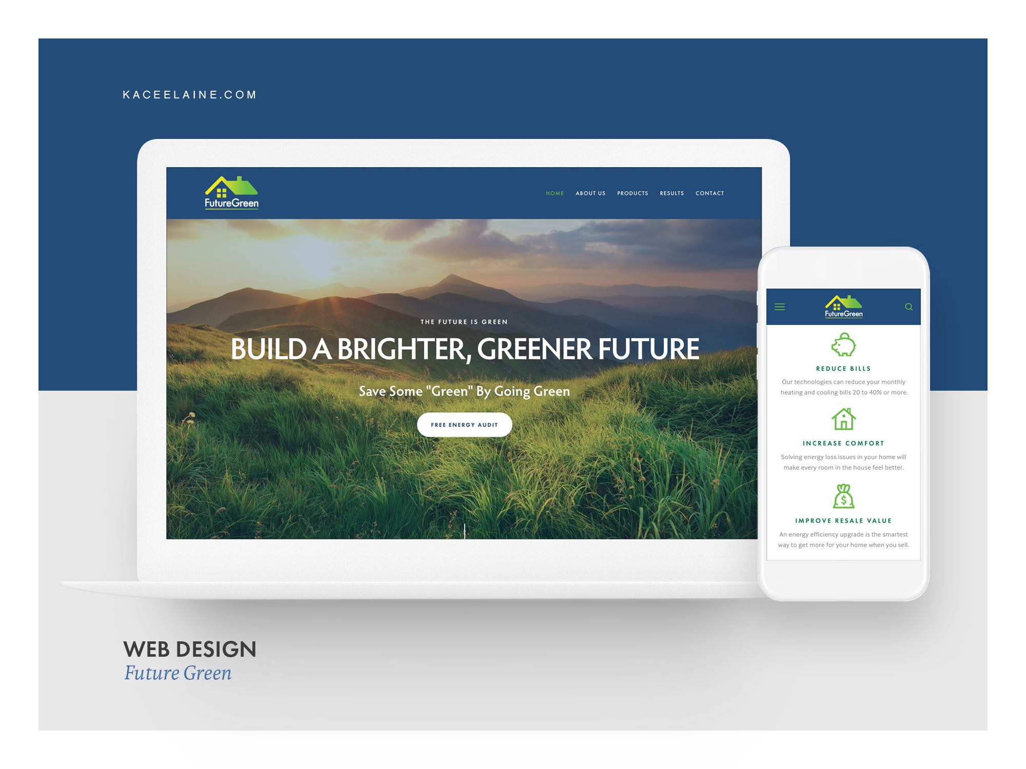 Squarespace Web Design for Future Green