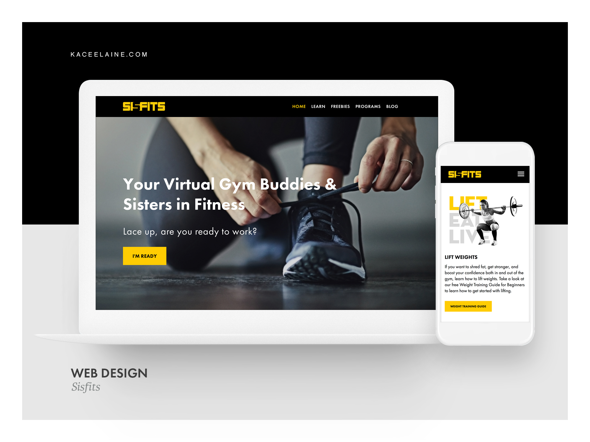 Squarespace Web Design for Sisfits