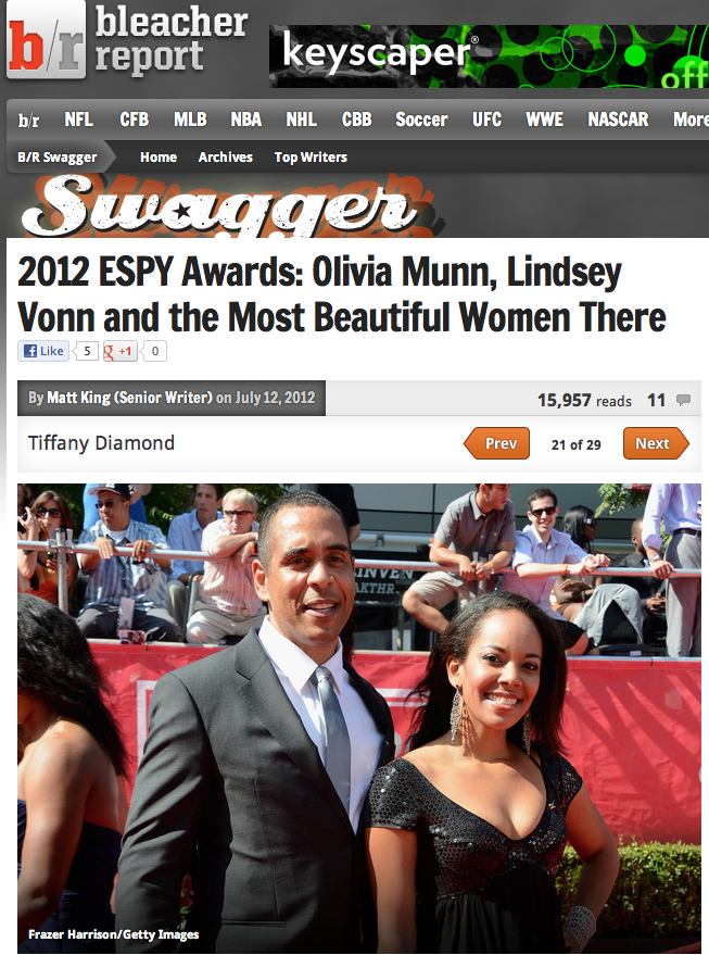 Voted one of the Most Beautiful Women at The Espys