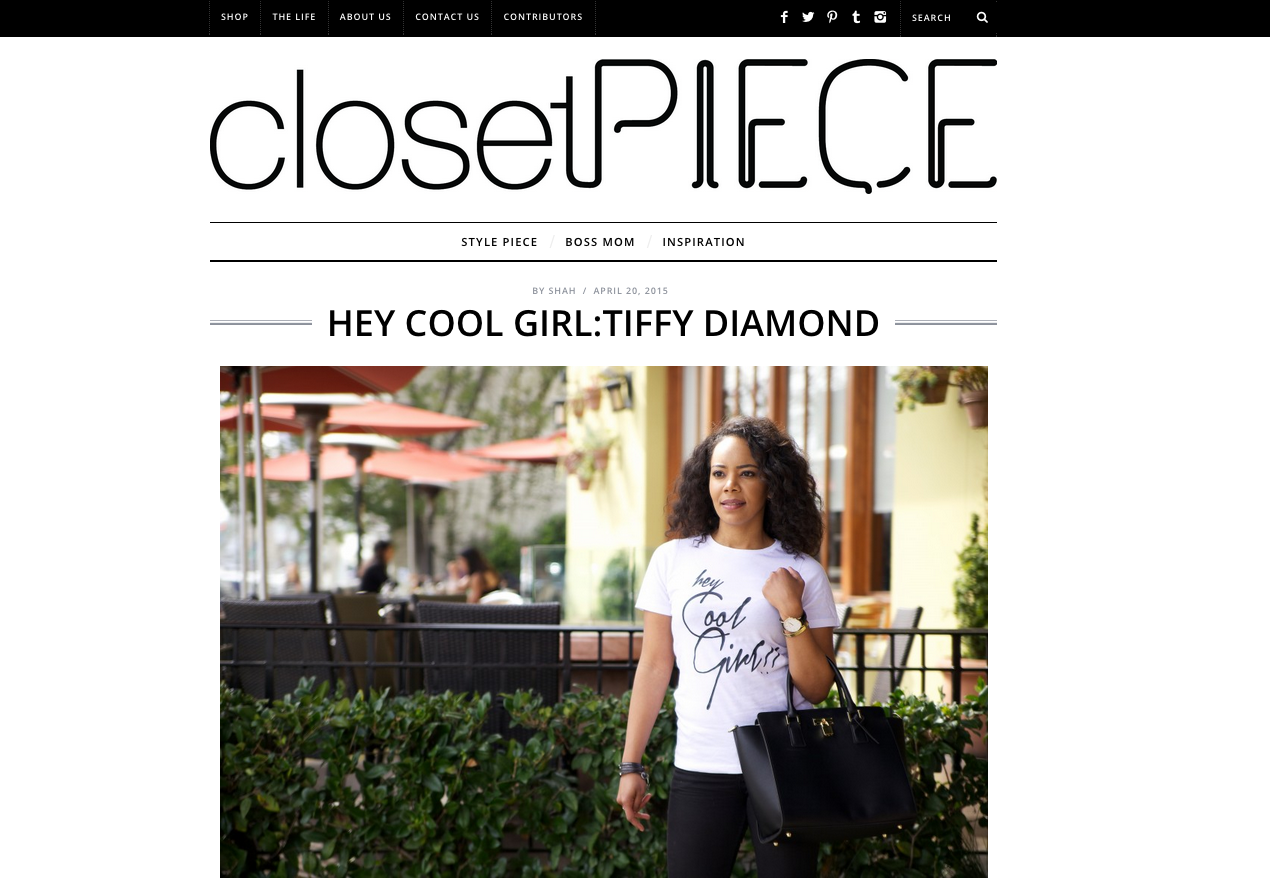 Interview with Closet Piece Read it  Here