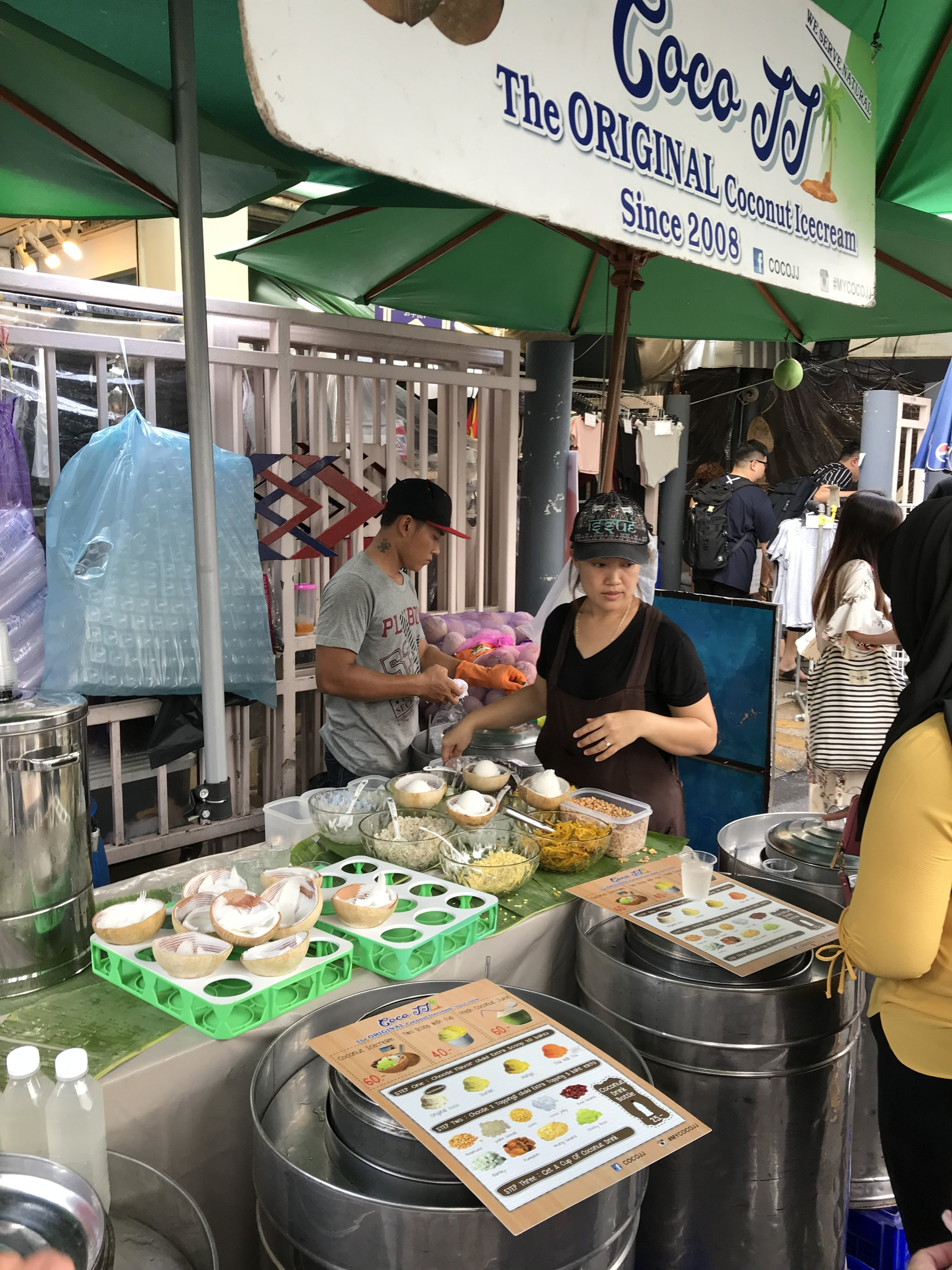 coconut ice cream at Chatuchak Weekend Market
