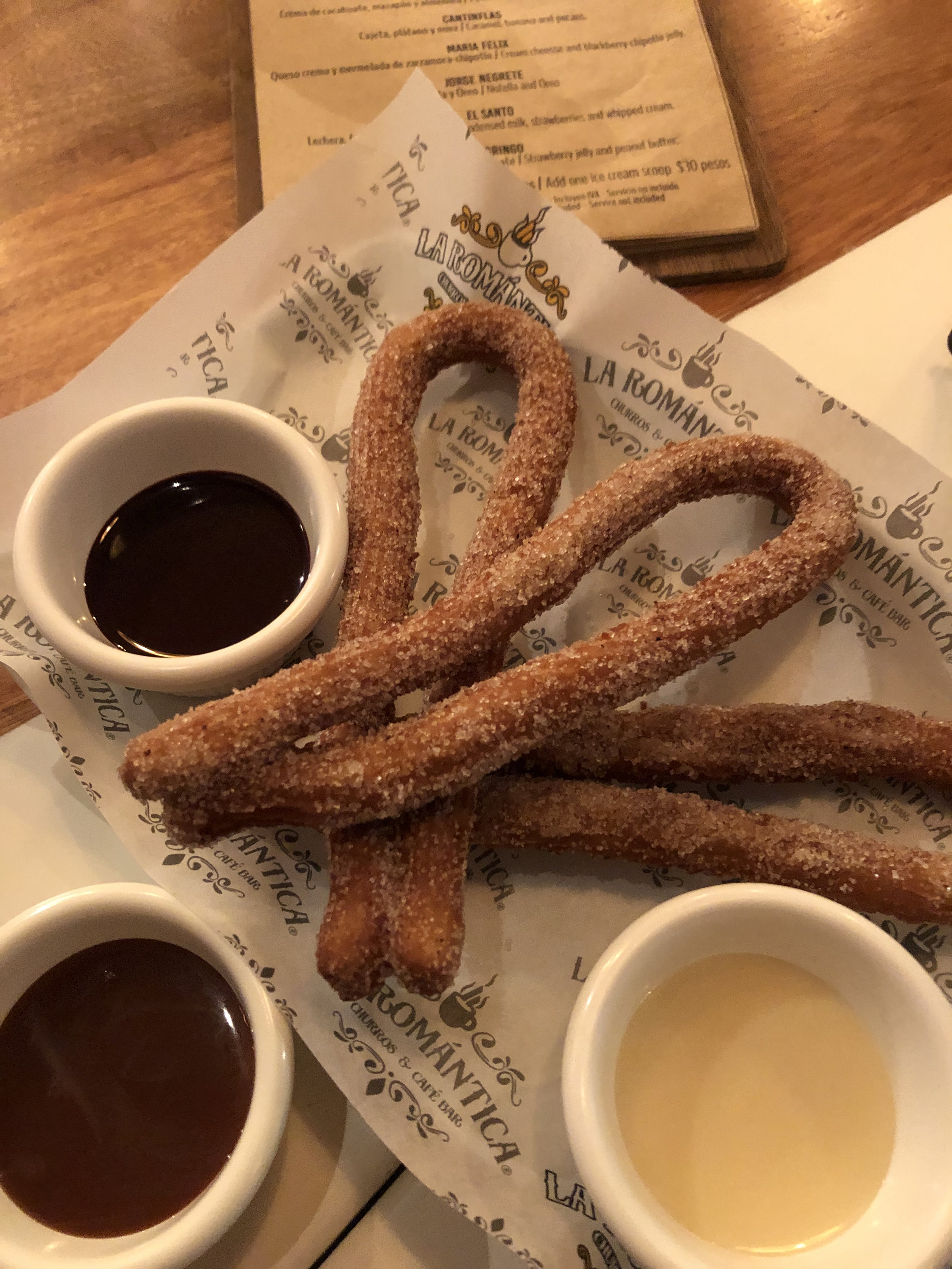 Photo: Classic Churros with dipping sauce