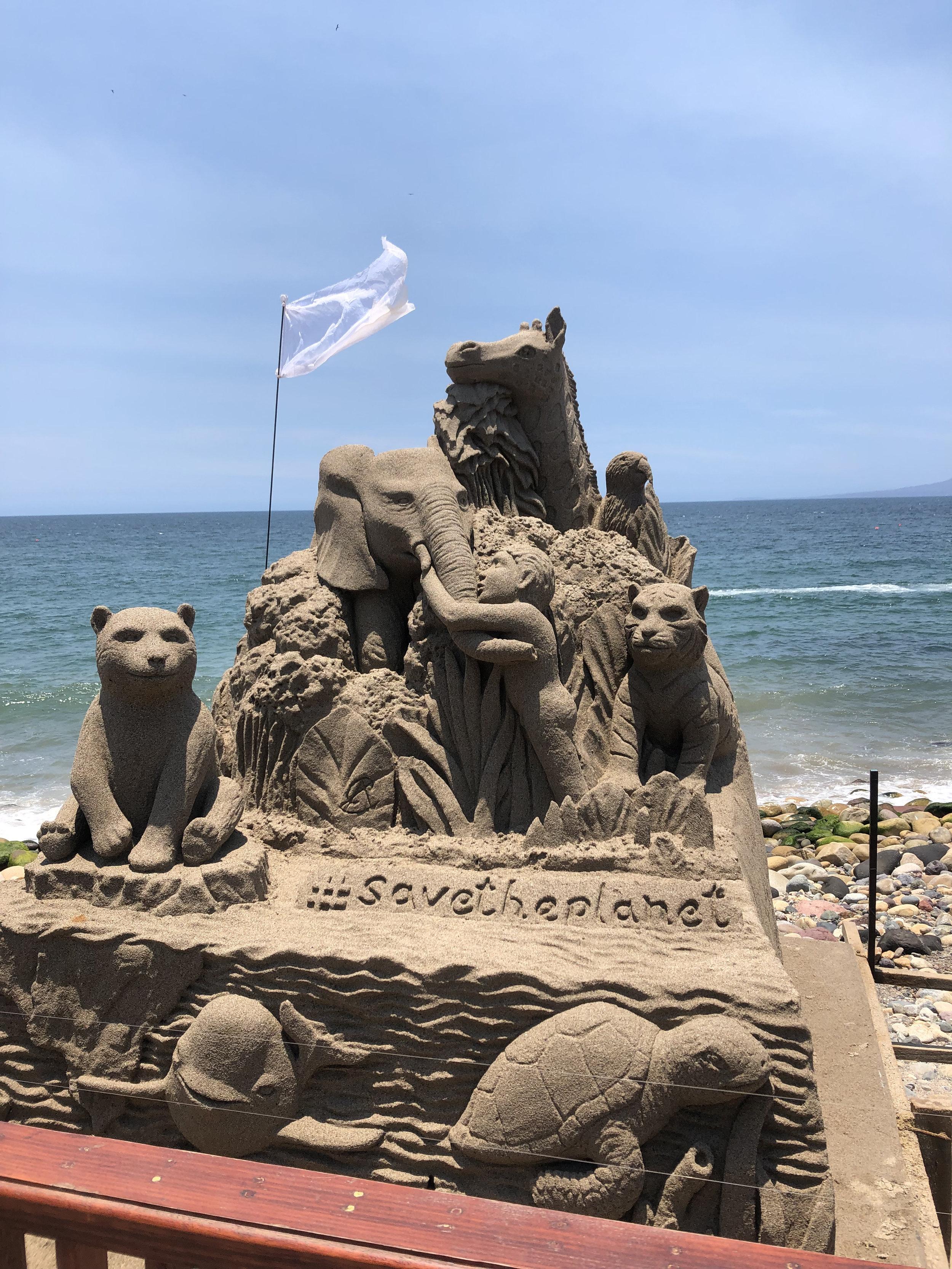 Photo: Sand Sculpture Malecon, Puerto Vallarta