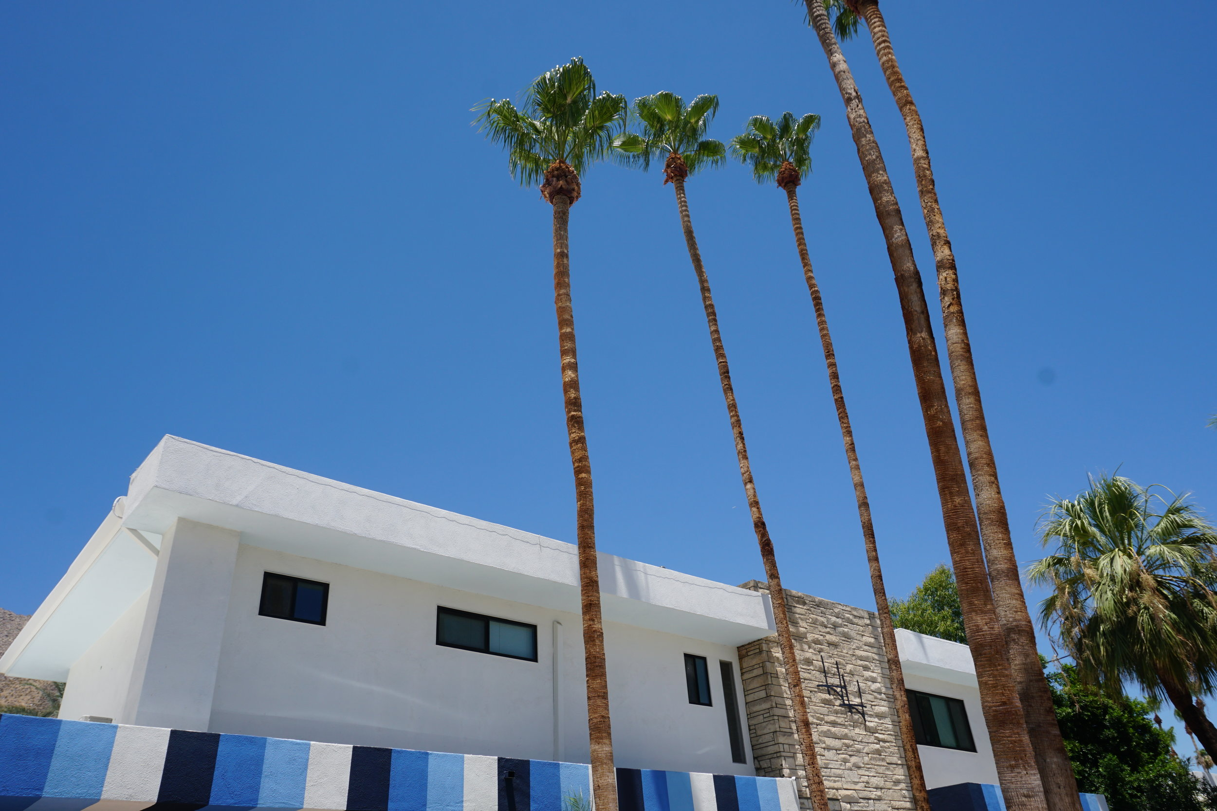 Photo: Exterior of Holiday House in Palm Springs