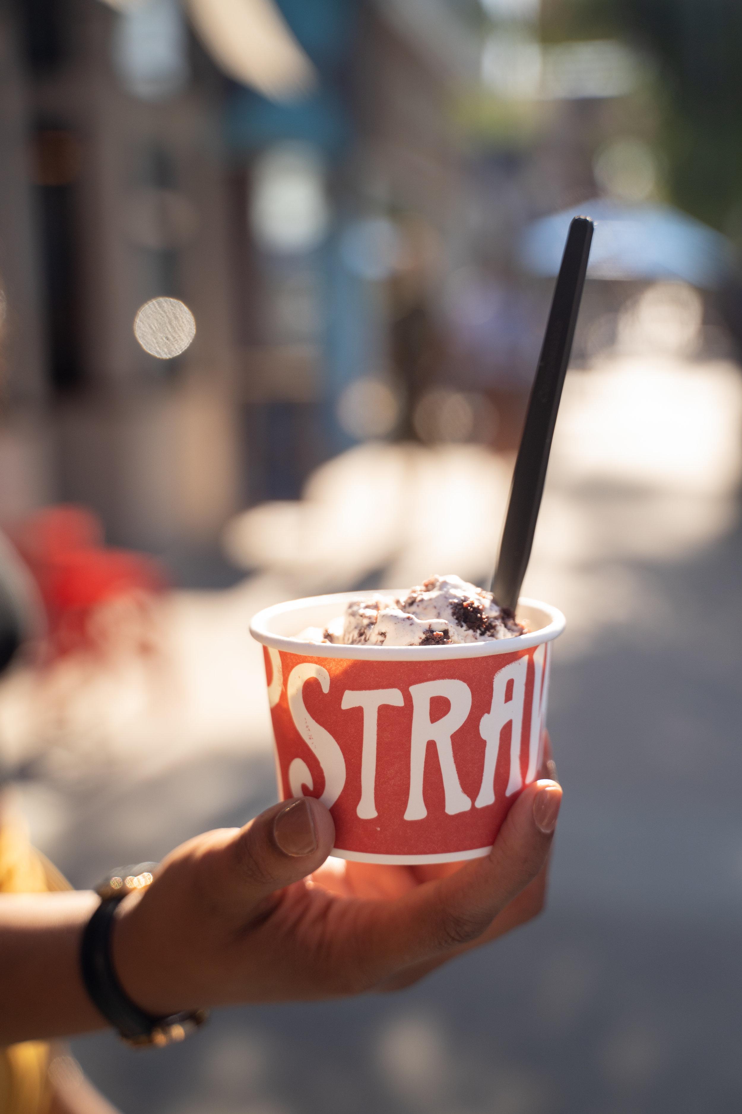 Closeup of Salt and Straw Ice Cream