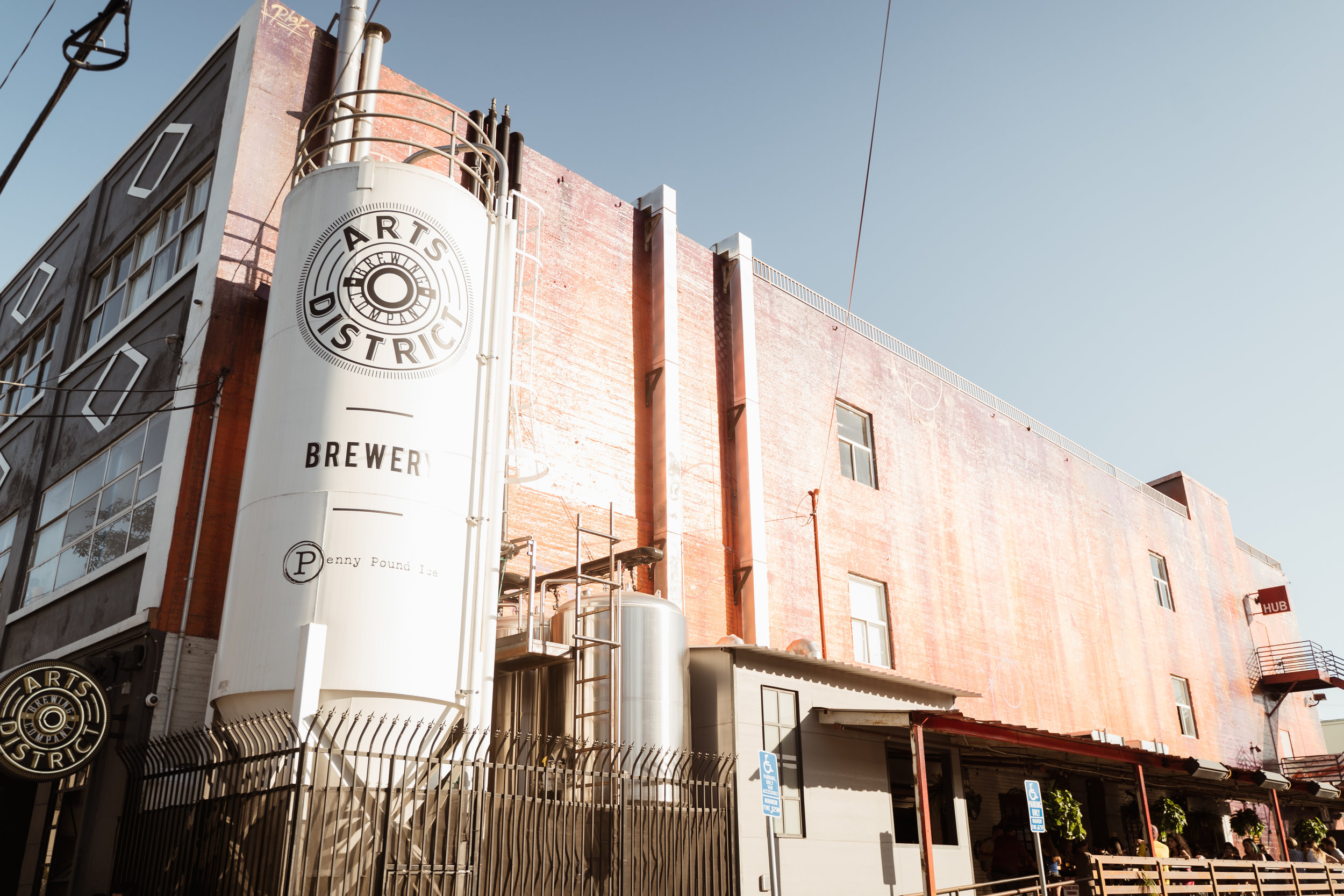 Exterior of Arts District Brewing Company