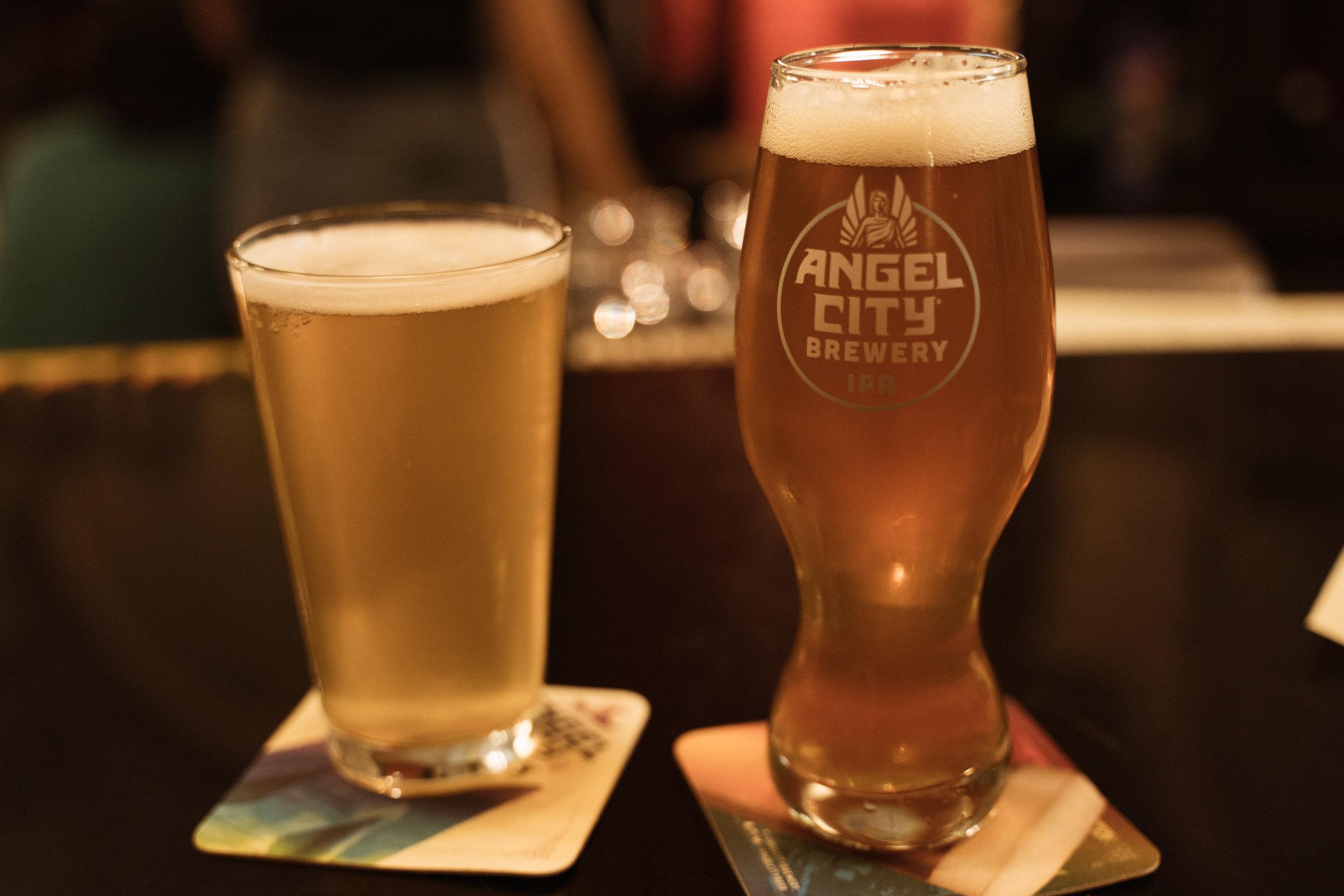 Beers at Angel City Brewery