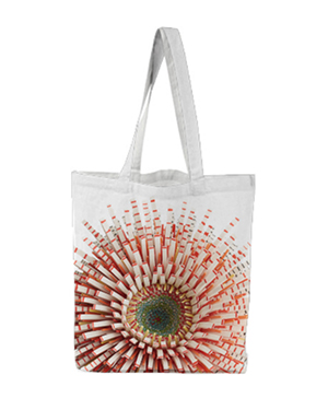 Flower Power Tote - Red