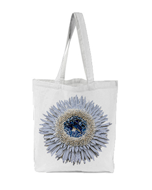Flower Power Tote - Blue