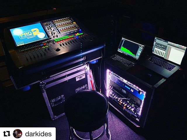 Checkout Alex Markides bringing the HEAT with @periphery this fall.  #Repost @darkides ・・・ FOH Rig for this @periphery run! #midasconsoles Pro2, #lake LM44 #solidstatelogic Fusion #universalaudio UA16 💖 Provided by the wonderful @jcaudio.co