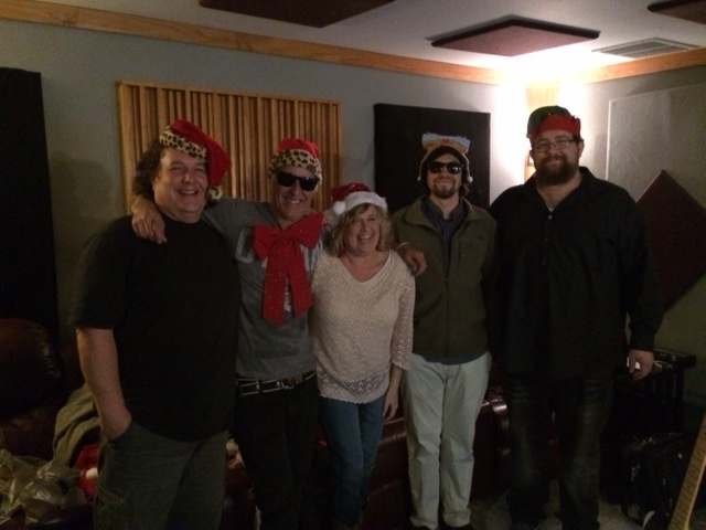 "Recording ""Christmas Kiss"""