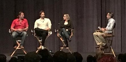 Consultant Vashi Nedomansky, First Assistant Edit Matt Carson, Post Production Supervisor Joan Kelley Bierman, Host Mike Kanfer (Left to Right)
