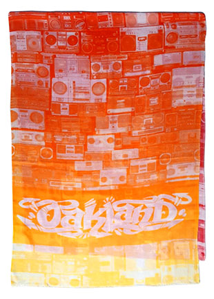 Boom Box Scarf for the Oakland Museum of CA