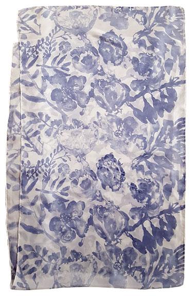 3. Watercolor Floral steel blue