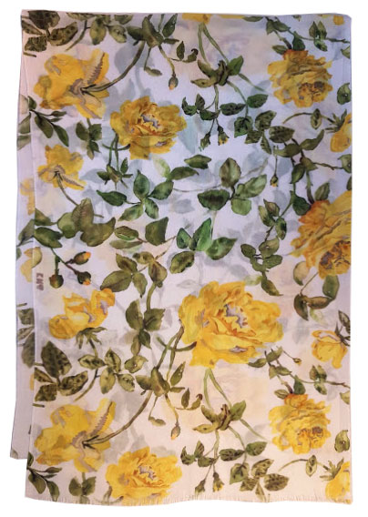 Yellow Roses Scarf for the Flagler Museum