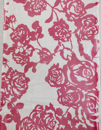 Roses Cut-out scarf