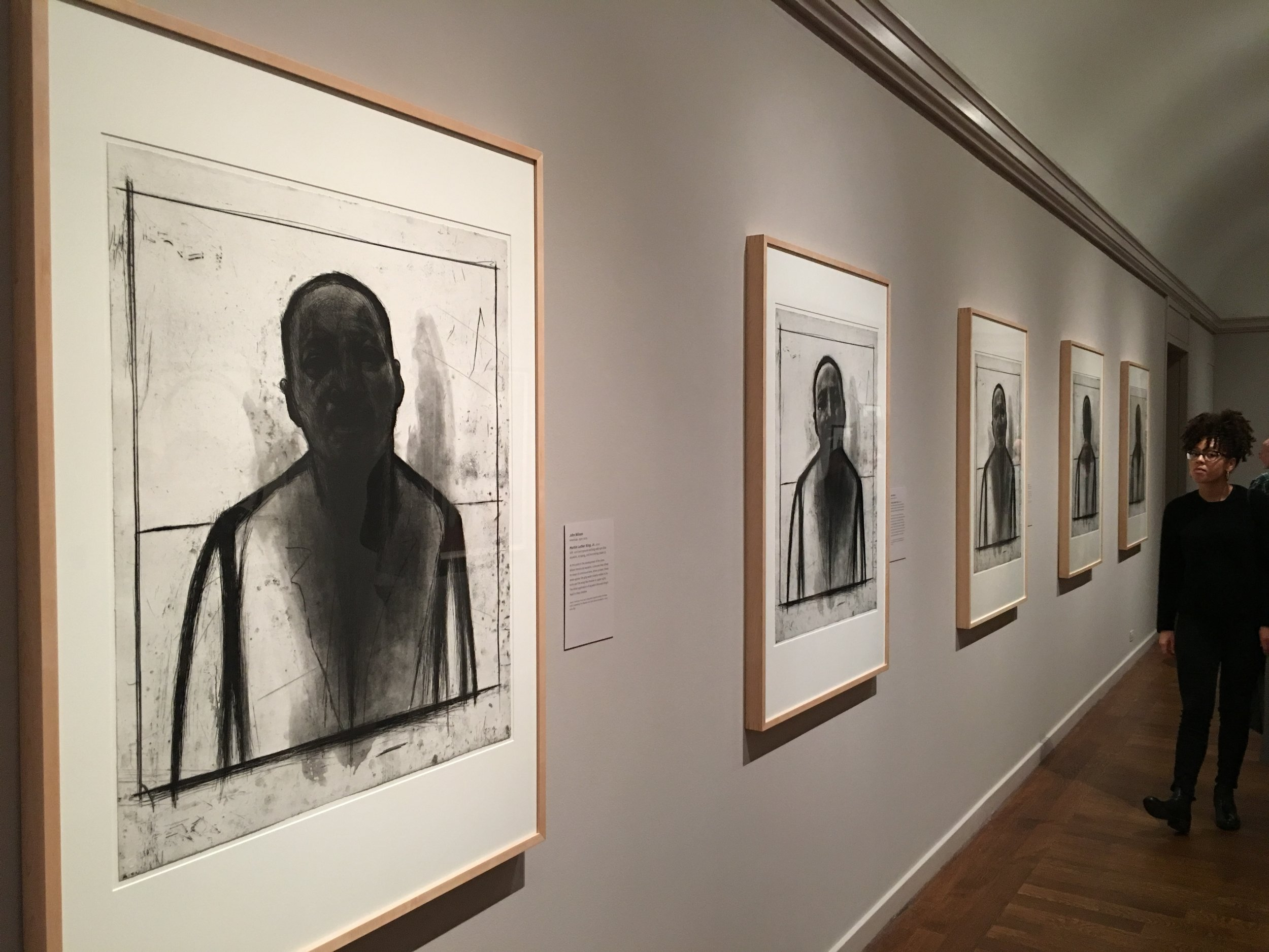 John wilson exhibit was a must see. on display were his renderings and sketches for the MLK jr. bust he created, which is currently on display in the rotunda at the U.S. capitol building.