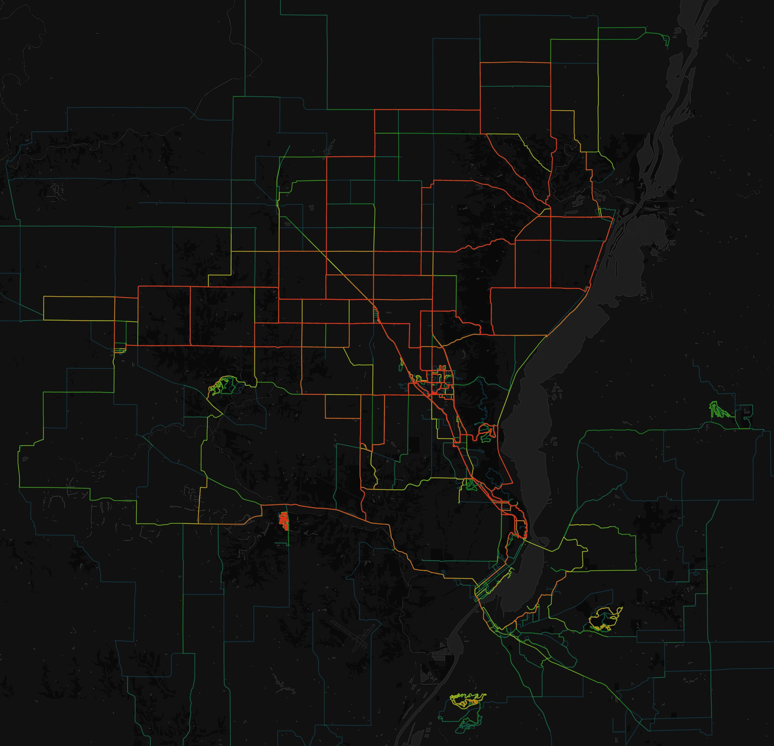 """5 - Map Preview (using the MapBox """"Export Image"""" feature on the top right hand side of your project)"""