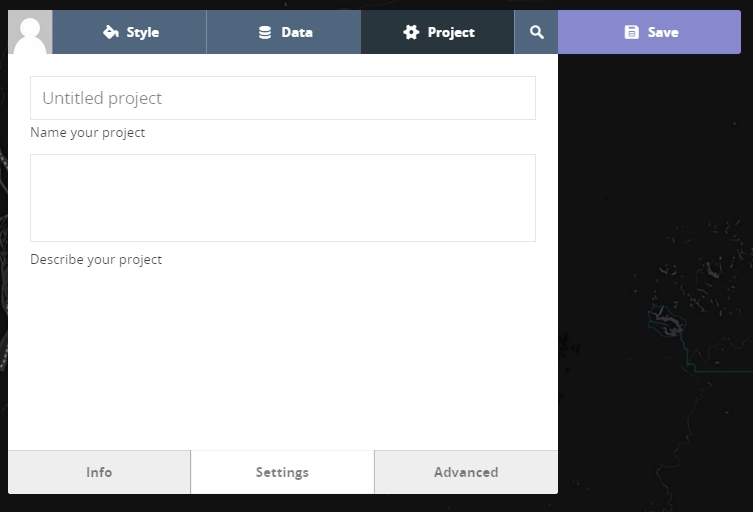 8 - Zoom to your data, name your project to share with others, and save your project.