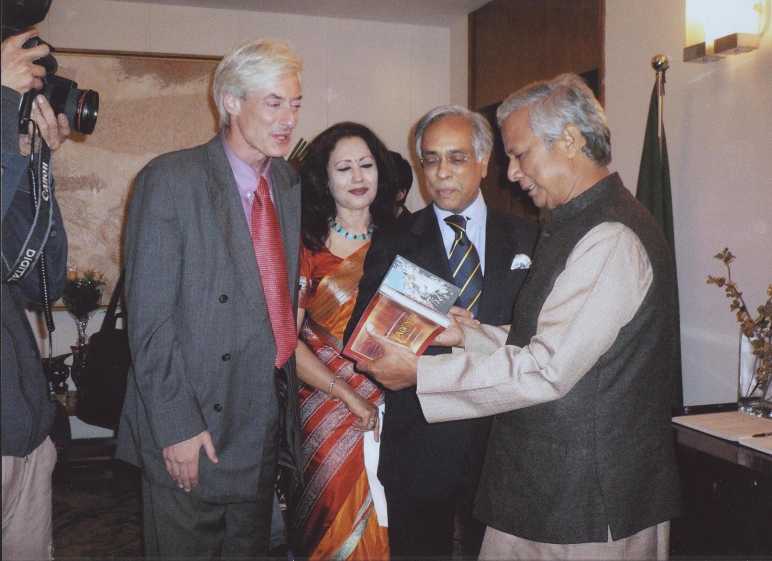"""With Nobel Laureate Muhammed Yunus """"banker to the poor"""