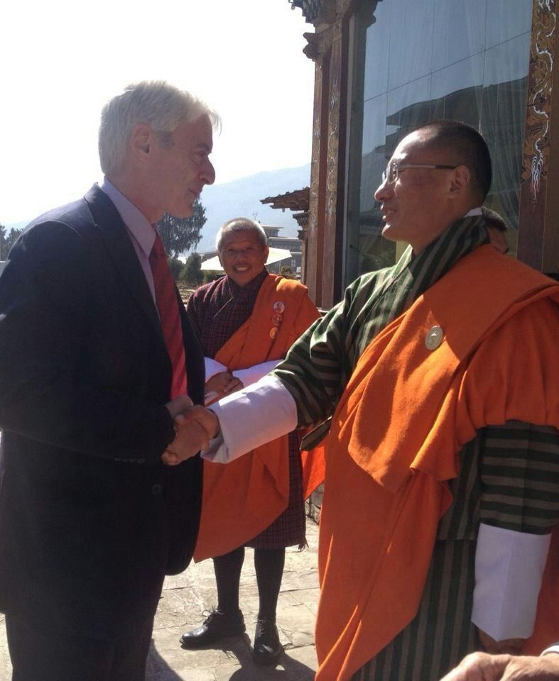 With Bhutan Prime Minister Tshering Tobgay.
