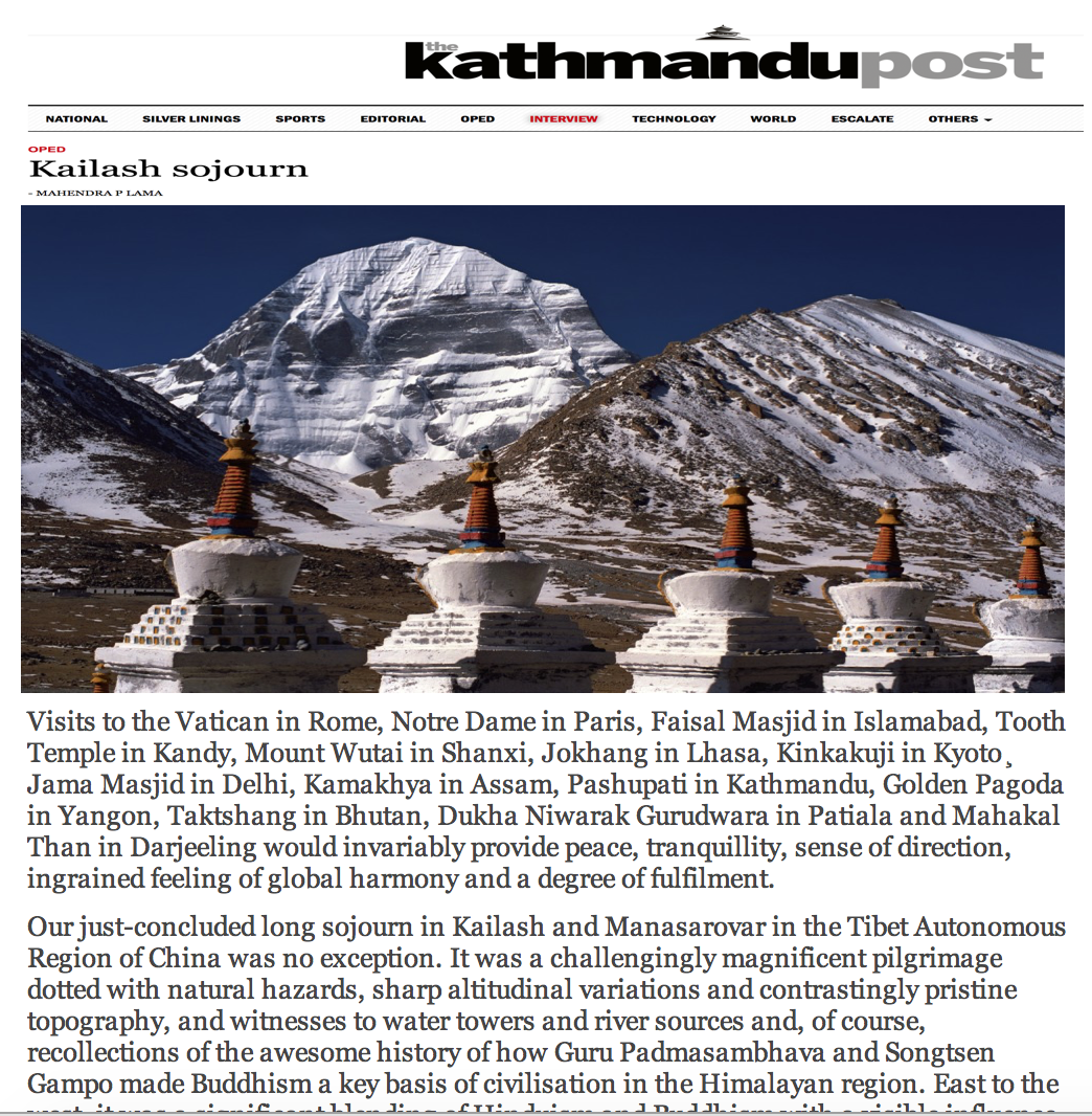 Himalaya Times Column — Himalayan Consensus