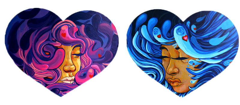 """""""Interwoven"""" - My two entries into the Hearts Social Club Gallery Exhibition"""