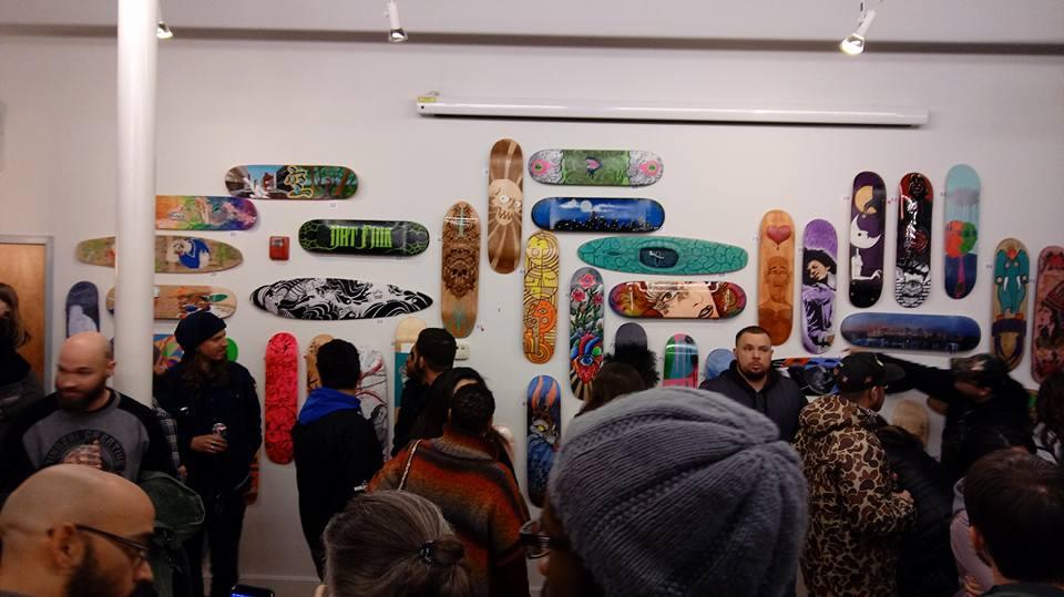 Sacred Hearts Skateboard Art Show 2016