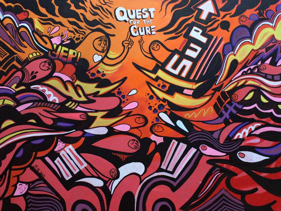 30in x 40in canvas, acrylic/spray paint/paint marker.    JT Daniels 2017