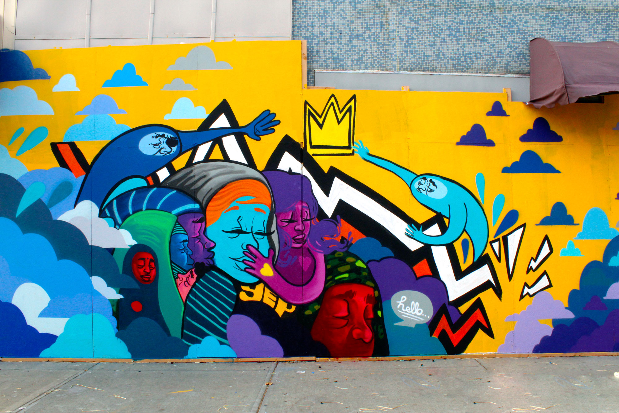 Mural created by JT Daniels in collaboration with the Troost Market Collective