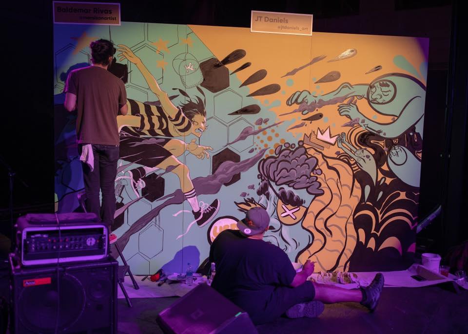 Baldemar Rivas & JT Daniels Collaborative Mural