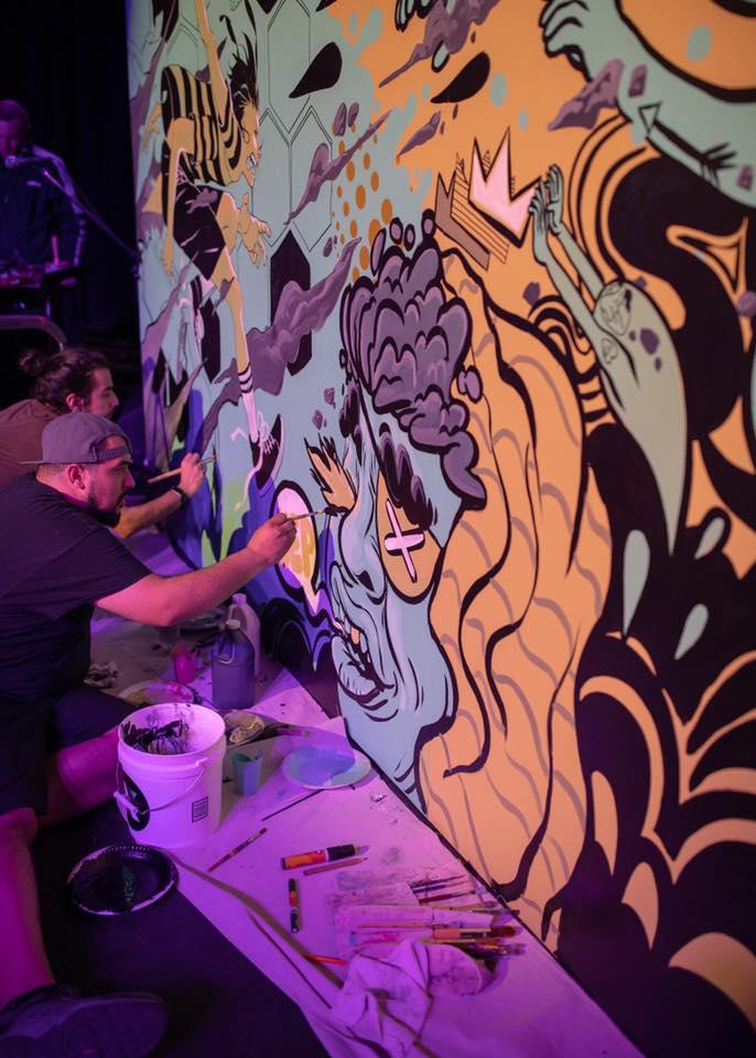 Baldemar Rivas and JT Daniels Collaborative Mural
