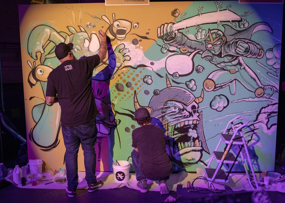 """Donald """"SCRIBE"""" Ross and Buster Moody Collaborative Mural"""
