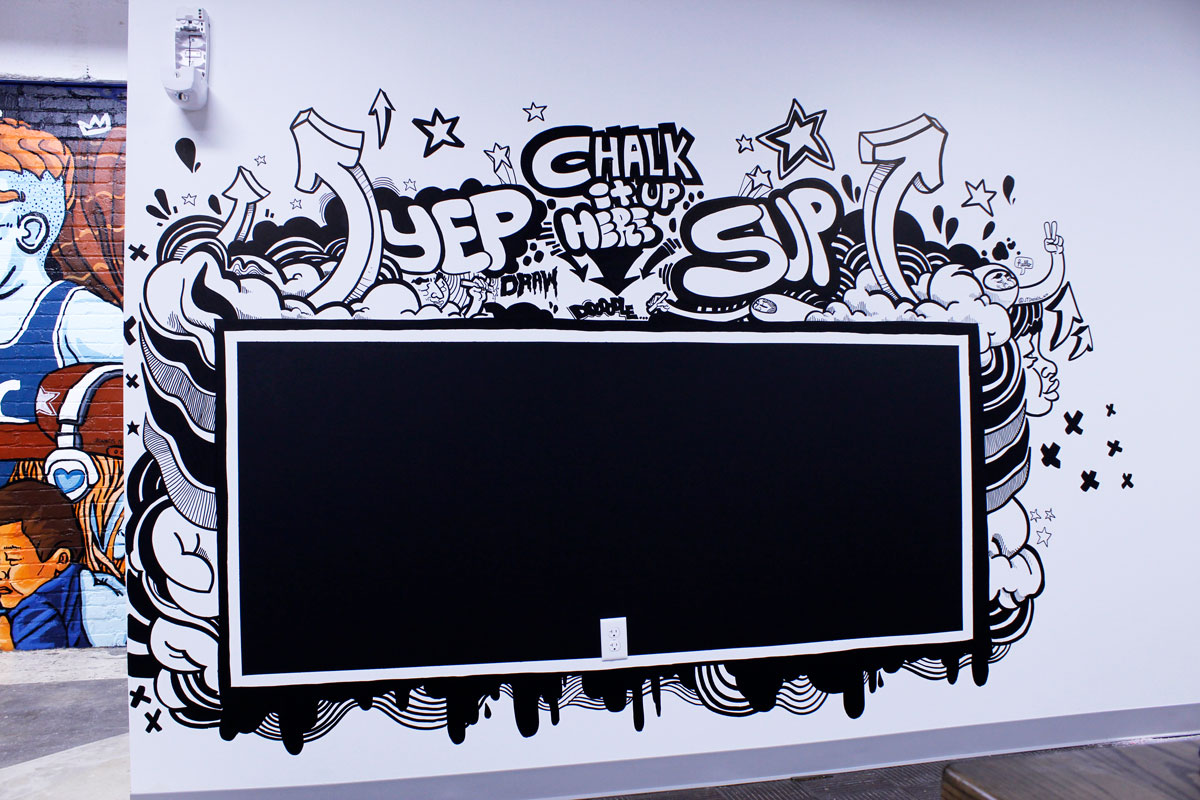 """Chalk it up""- Chalk board mural, JT Daniels 2019"