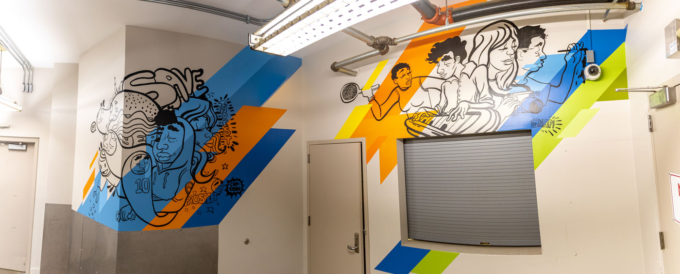First Level Interior Mural, JT Daniels & Sikestyle 2019