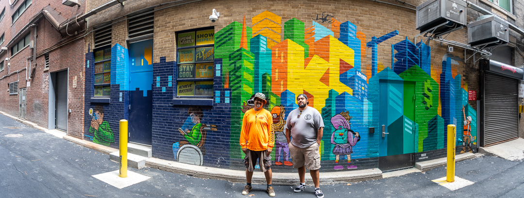 Sikestyle & JT Daniels, Exterior Mural for School of Economics