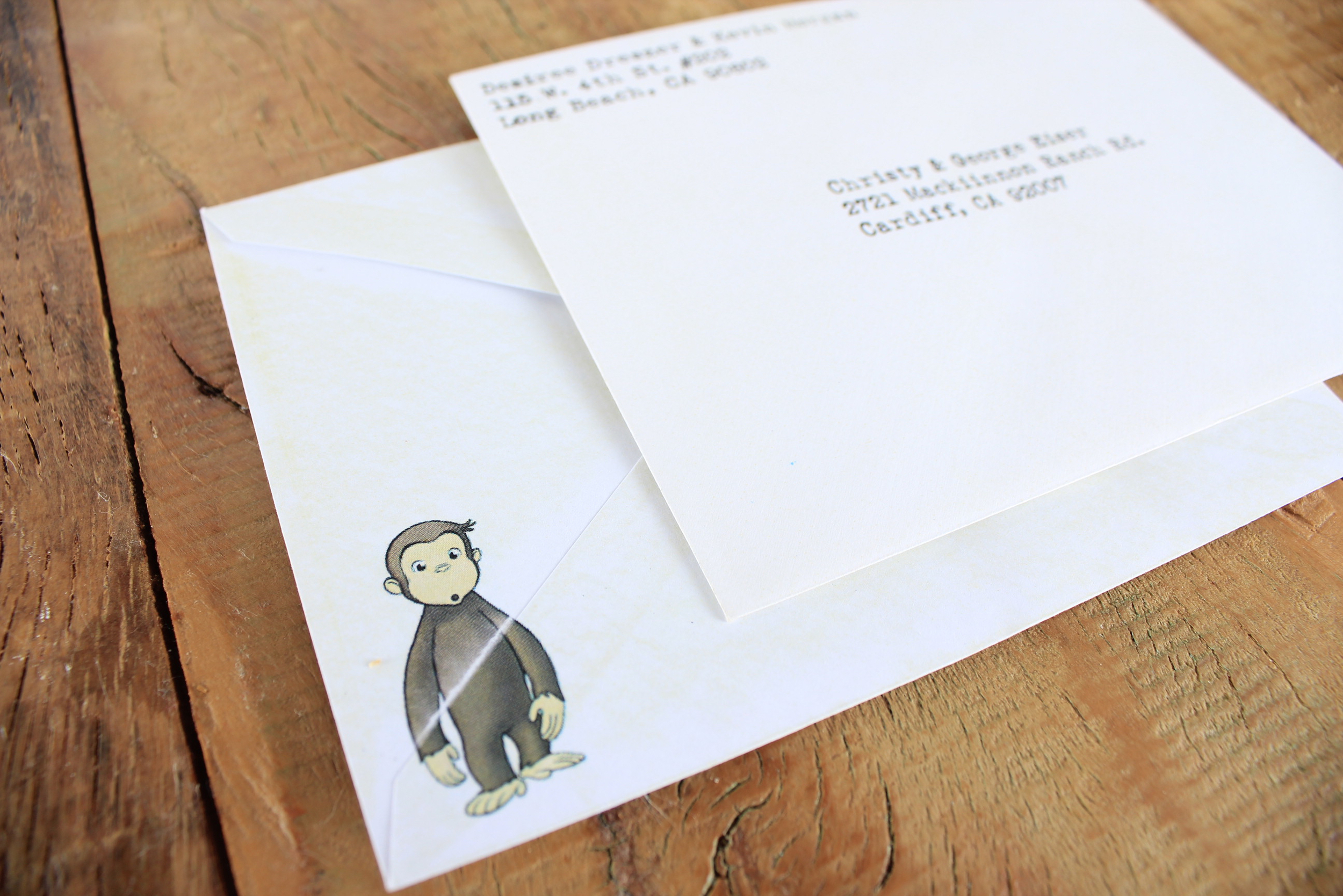 curious george invite forpersonal use only