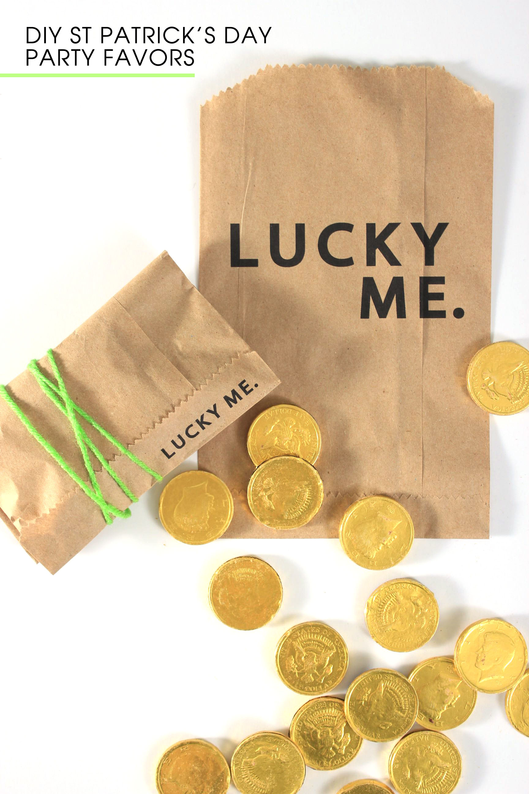 DIY St Patrick Day Party Favor