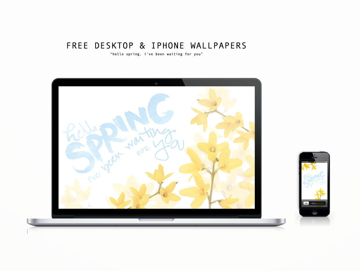 Free Spring Desktop and iPhone Wallpaper