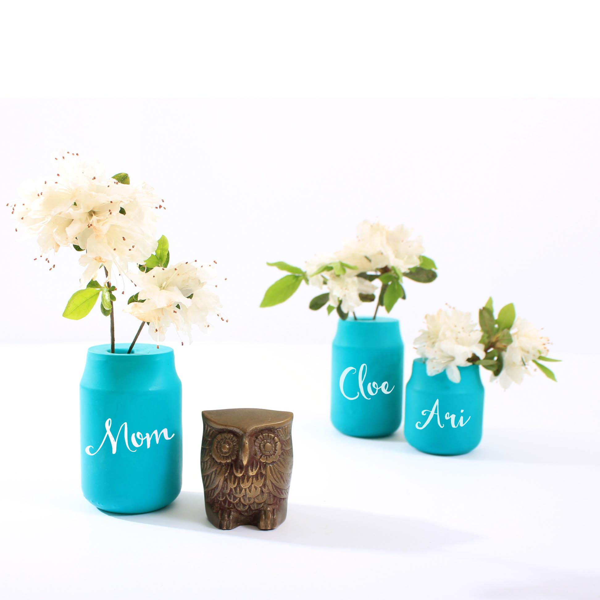 DIY Flower Vase Mother's Day Brunch