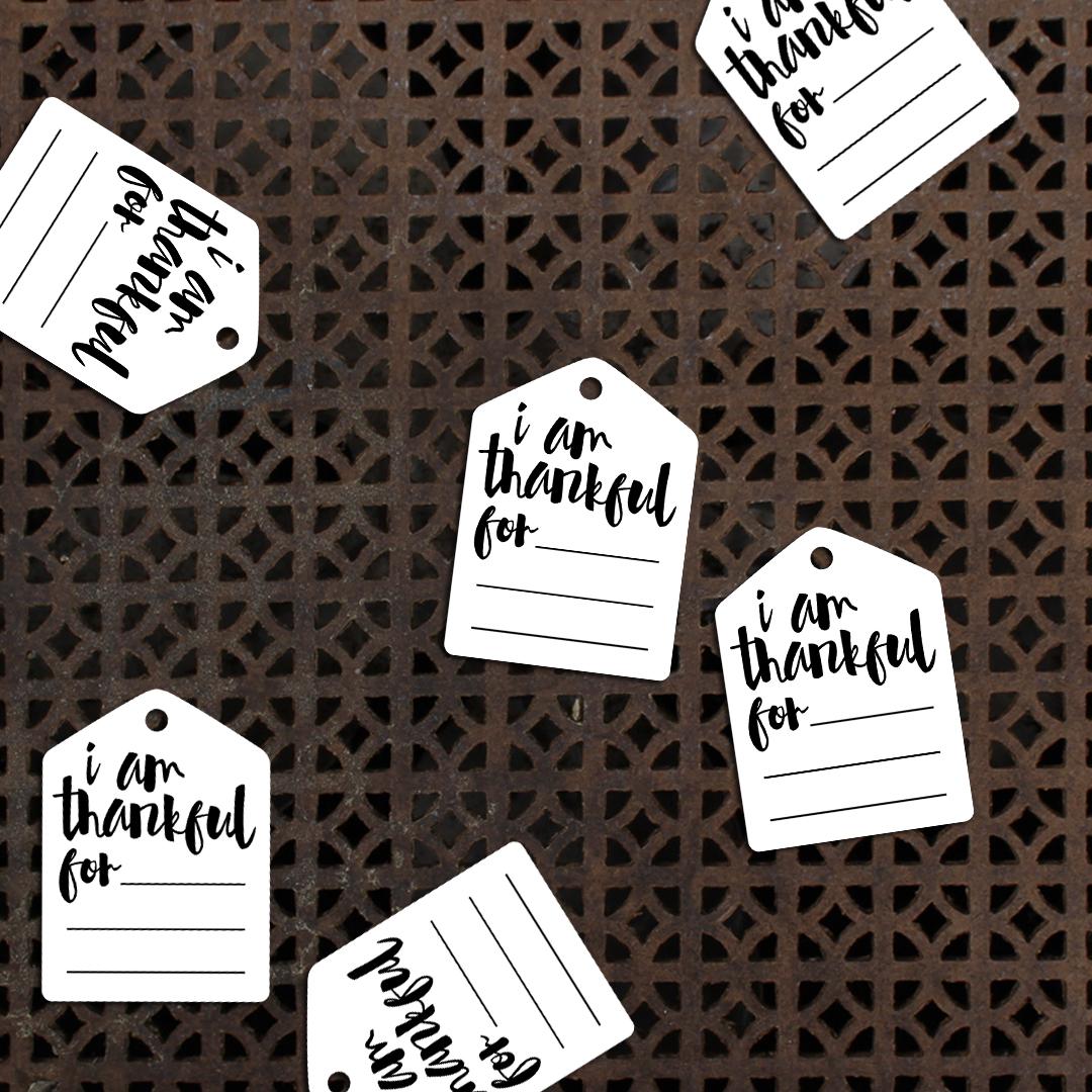 Printable Thankful Tags