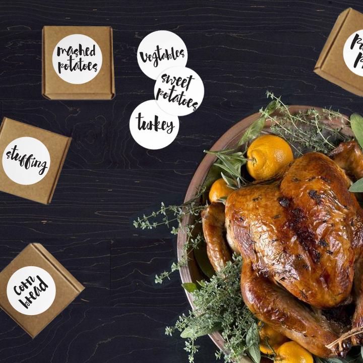 Printable Thanksgiving Food Labels