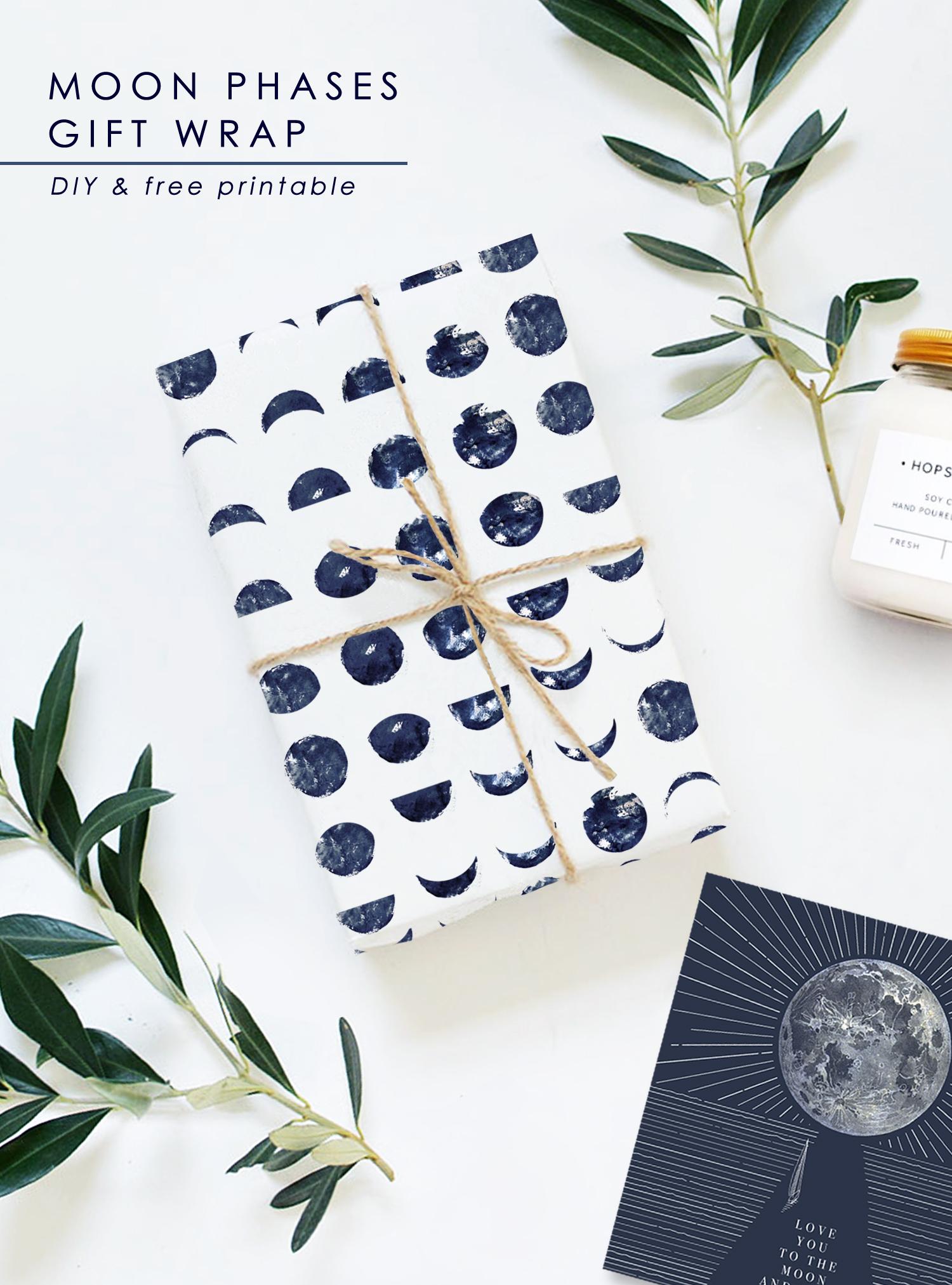 printable moon phases diy gift grap
