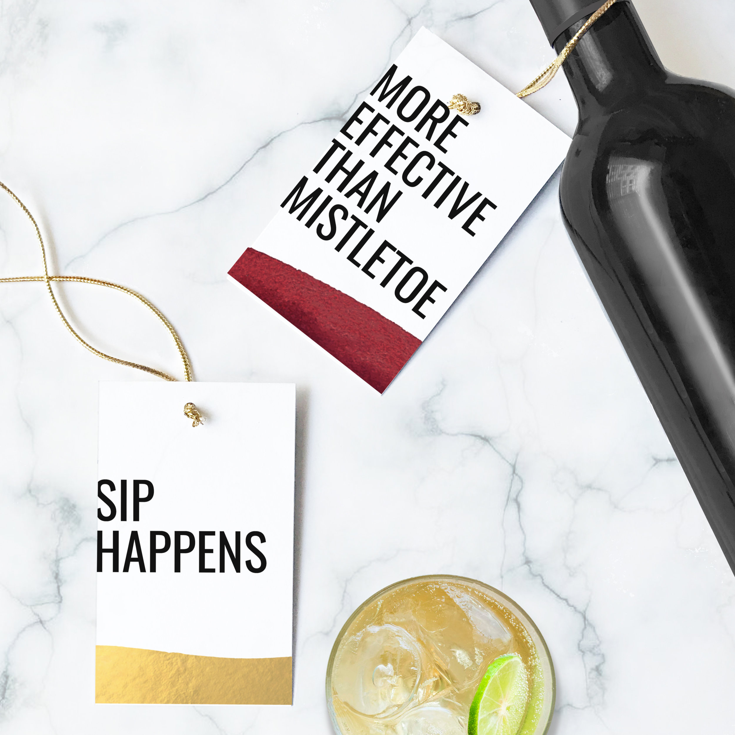 Drink and Wine Gift Tags