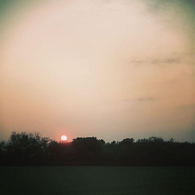 The drive home. #sunset #balloflight #redglow